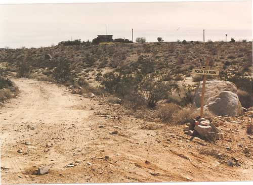 Road to Ruin Bandit's residence. Photo: Ed Patrovsky